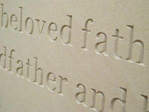 lettering carving memorials