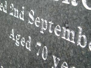 carving lettering memorials Burslem