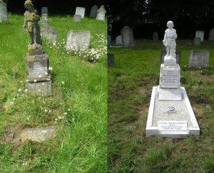Memorial Cleaning Restoration Burslem Headstone Gravestone