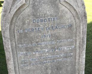 Lydia Dorothy Le Lacheur memorial restoration Tunbridge Wells Cemetery